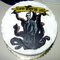 Cthulu Cake A cake made for artist Lee Moyer, who created the drawing upon which the design is based.