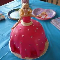 Barbie Birthday Cake This was my first cake with MMF. For my little girls 4th Birthday!