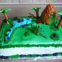 Dino Birthday Cake This was for my Sons's 4th Birthday!