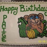 Monkey This was a quarter sheet cake with a BCT