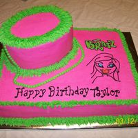 Bratz Purse Cake This is a half sheet cake with two small oval cakes set on top of it decorated like a purse. This is based off of an idea that I saw on...