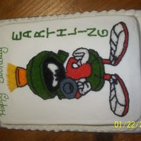 Marvin The Martian   This was a quarter sheet cake.