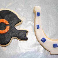 Superbowl Cookies NFSC - first time using RBC (LUV IT). My son is a Bears fan and I am a Colts fan so we had to represent both teams.