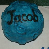 Blue Moon - The Tick This is the one half of the set of cakes for 4 yo grandson consisting of cartoon superhero The Tick, and the Moon with his name '...