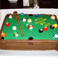 Dad's Birthday All buttercream w/mmf pool stick and balls.