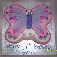 Butterfly covered in buttercream