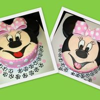 Minnie Mouse Again Same as the other in my pics, and as many others on CC :). For co-worker's daughter's bday. Face is chocolate with chocolate and...