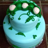 Peas In A Pod Cake For Triplets Cake for co-worker having triplets. Yikes. Lots of great inspiration on CC of course. TFL!