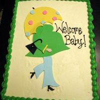Shower Cake For Co-Worker Another umbrella cake. I just love this design! TFL! :)