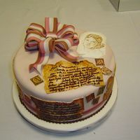 Mothersdaycake.jpg  This Mother's Day cake is dedicated to my Grandmother for helping me research my family history. The cake is a marbled fondant cake...