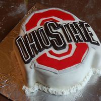 Ohio State Grad i made this cake to go along with the pill bottle cake for a graduation gift. It was a peanut butter cake with chocolate buttercream icing...