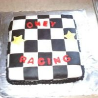 Checker Cake Extra cake i had...so i made this to go along with my nephews other cake...