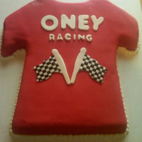 "Oneyracing Shirt I made this for a party we have every year for our friends and family...my dad calls it the ""red shirt"" party...we run in demo..."