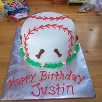 Baseball Birthday Cake I made this for my Godson's birthday, he loves baseball and this is what I came up with since I didn't have much notice! Again...