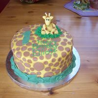 Giraffe Cake This was my first order for a complete stranger. I think I put WAY too many dots on it. I didn't realize it til my mom said it and it...