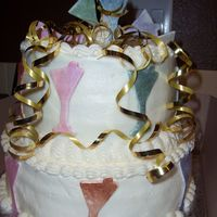 Cynthia's Cake  Made for one of my best friends. Thank you to the countless martinis I drank to get inspired, I think I tried one in every color possible...