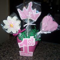 Princess Cookies 2   this is the second bouquet for my nieces party.