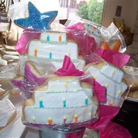 My First Cookie Bouquet   I made this for my friends birthday. They are NFSC and Antonia74 Icing, they were yummy.