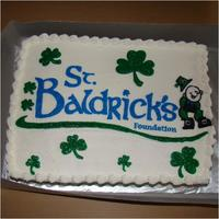 St. Baldrick's Cake This is the logo for the St. Baldrick's Foundation made for their event.