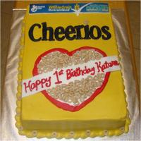 Cheerios Box 1St Birthday Cake