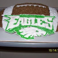Go Eagles Buttercream with colorflow EAGLES