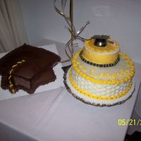 1St Graduation Cake Did cake for an intern's graduation party. 1st large cake(s) I've done. TFL