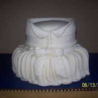 1St Bridal Shower My first Bridal Shower cake. Carrot Cake w/cream cheese icing. Fondant with fondant accents. Thanks for looking.
