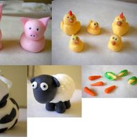 Fondant Farm Animals These are the fondant animals that I made for my son's 1st birthday cake which I'll be making next week. This is my first time...