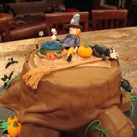 "Enchanted Forest  I made this cake for a fundraiser for my sons school (silent auction). I used fondant to cover the cake. I used 4-10"" cakes for the..."