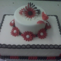 Black And Red Romance FAKE CAKE FOR DISPLAY