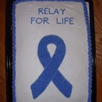 "Relay For Life  My MIL asked me to do this cake for a Relay For Life dinner she was organizing. It was my first ""paid"" order and she was really..."