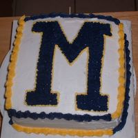 "Michigan Cake I was asked to make this cake for my friend who is bringing ""Friday Treats"" to school. I am also making an OSU cake since it is..."
