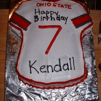 Jersey Cake I made this for my son's 7th birthday. His favorite Ohio State player is Troy Smithbut his number is 10 since ds was turning 7 he got...