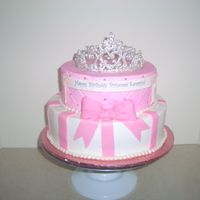 Princess Crown white cake with bc and mmf white chocolate tiara.
