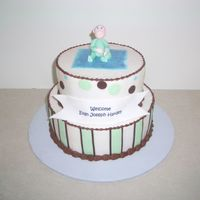 Baby Shower gumpaste baby bc icing with fondant accessories