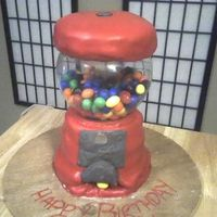 Gumball Machine  Any Ace of Cakes fan knows where this idea came from. Anyway... This is for my grandpa's 82nd birthday. The biggest childhood memory...