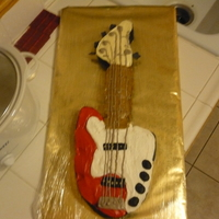 Bass Cake   Bass guitar cupcake cake. Iced and decorated in buttercream