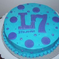 Church Group Cake  i made this cake for a lakewood church small group. they are called L7 and this is their logo. i havent delievered it yet, so we'll...