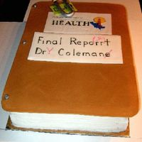 Final Report  Requested something with editing marks and paper clip! Cover is textured fondant, but texture does not show up in photo. WASC with...