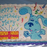 Blue's Clues Cake 1/4 sheet with buttercream