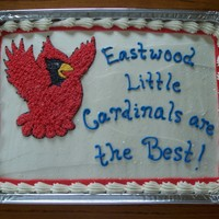 Little Cardinals These cakes were made for a cake walk for child's school. Hence the disposable pans.