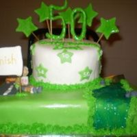 50Th B-Day A cake I did for a man who loves to canoe and is training for a marathon. All fondant. Thanks for looking. Inspiration came from the many...