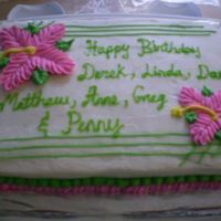 Phpu6Fxu6Pm.jpg Buttercream icing with flowers sheet. Inspire by ThanhThanh cakes. I use the papel towel method to smooth the icing and love not having a...