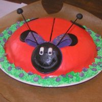 Ladybug Cake Made for a girl who turned 4 years.
