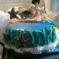 Mermaid Cake I made some lollypops from chocolate so I was sure there was enough!