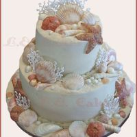 Beach Themed Cake This was just a practice cake. I made a bunch of gumpaste seashells and wanted a cake to put them on so I made this. I had ALOT of cake...