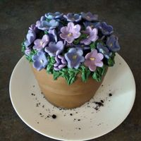 Violet Flowerpot This was for my momâ¦to replace her wilting Mother's Day flowers, and to thank her for the KitchenAid mixer she...
