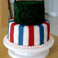 Wrigley Field Birthday Cake I did this cake for my CUBS-obsessed bf's birthday. It was my first time attempting to use fondant as well as multi tiers. I had a...