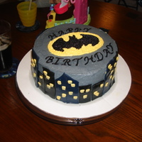 Batman Inspired buy other CC cakes, all BC expect buildings which are fondant. 8' round chocolate.
