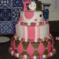 Brown And Pink I made this for UTSA (The University of Texas at San Antonio) Sorority Gamma Phi Beta. This is my first three tiered cake. Learned a few...
